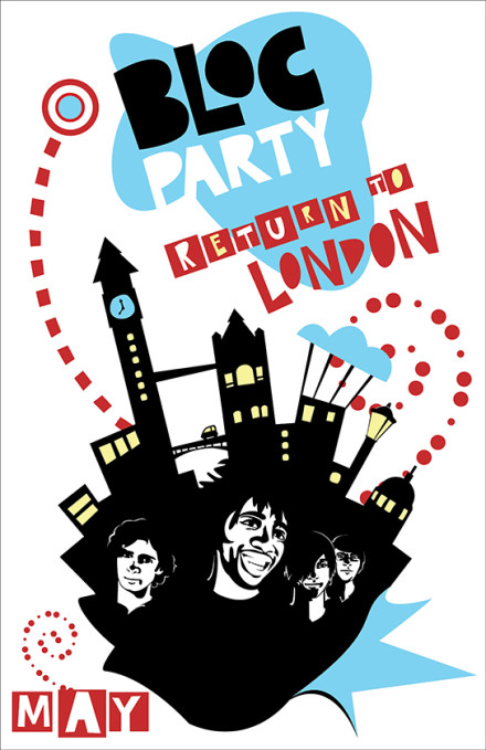 Bloc Party Poster Design